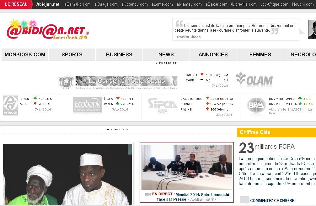 abidjan.net Portail d'Actualités Côte d'Ivoire ci.net