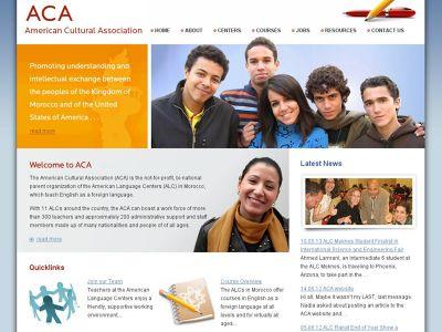 aca.org.ma Association Culturelle Américaine Maroc Casablanca