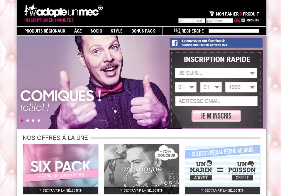 Adopteunmec com site