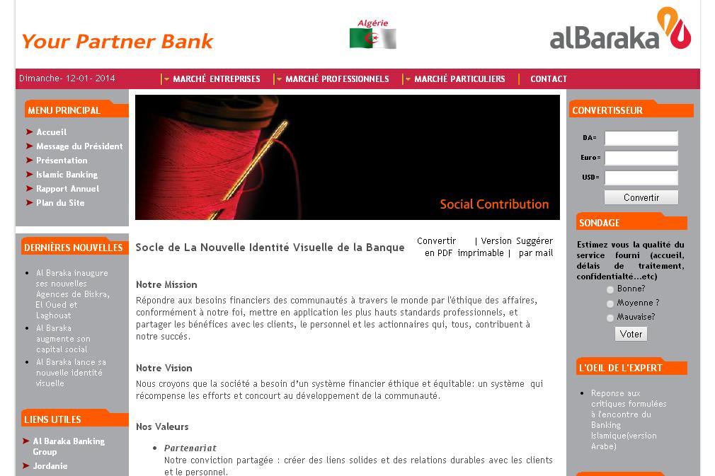 albaraka-bank.com Banque Al-Baraka Algérie Albaraka  Bank en ligne