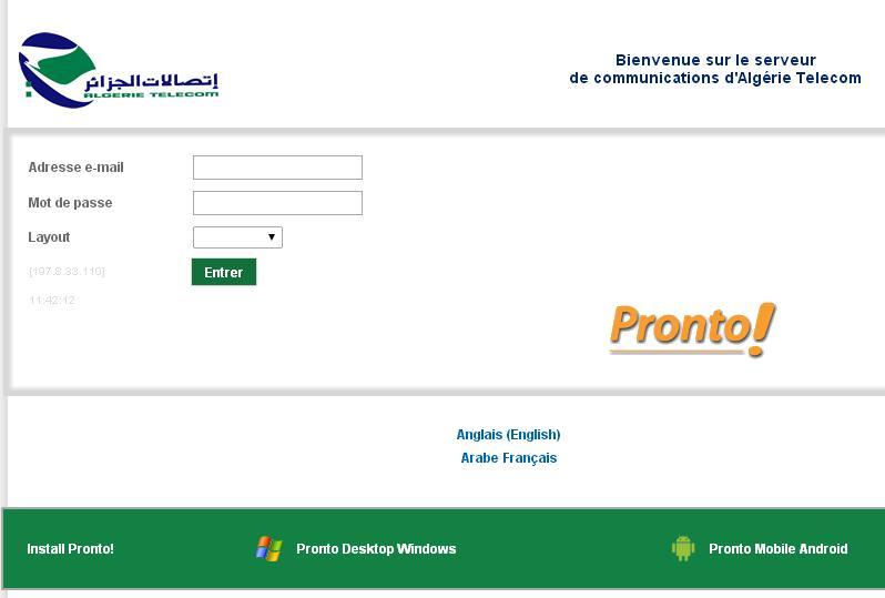 algerietelecom.dz Opérateur en ligne Algérie Télécom annuaire intranet facturation espace client