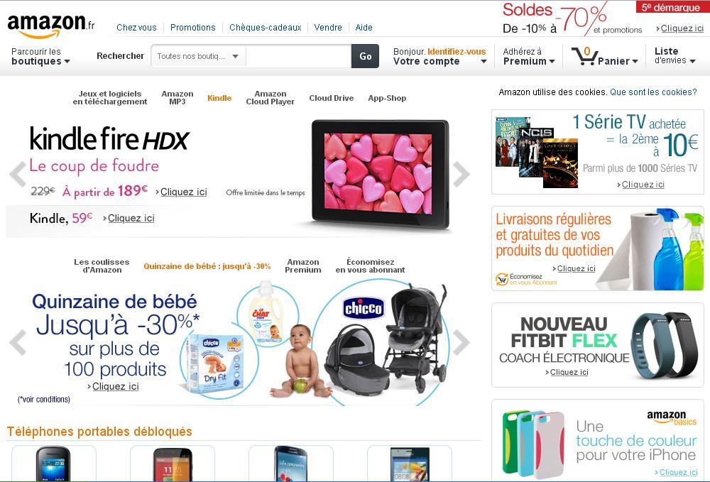 amazon.fr Boutique Achat en ligne Vente Livres Téléphonie DVD CD Librairie Ebook