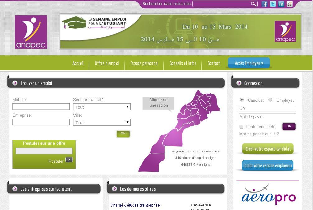 anapec org   annonces et offres d u2019emploi au maroc