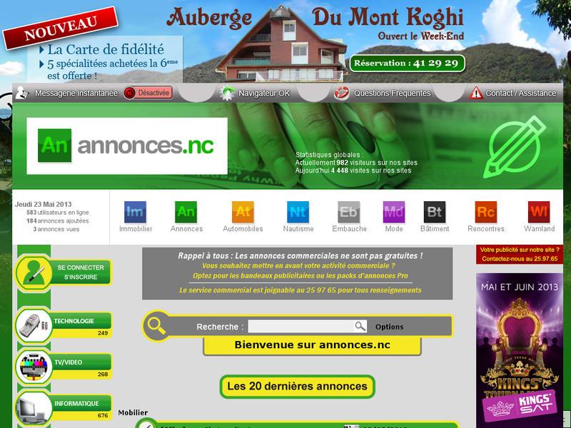 annonces-nc.com Kalolo.nc Annonces de Nouvelle Calédonie NC