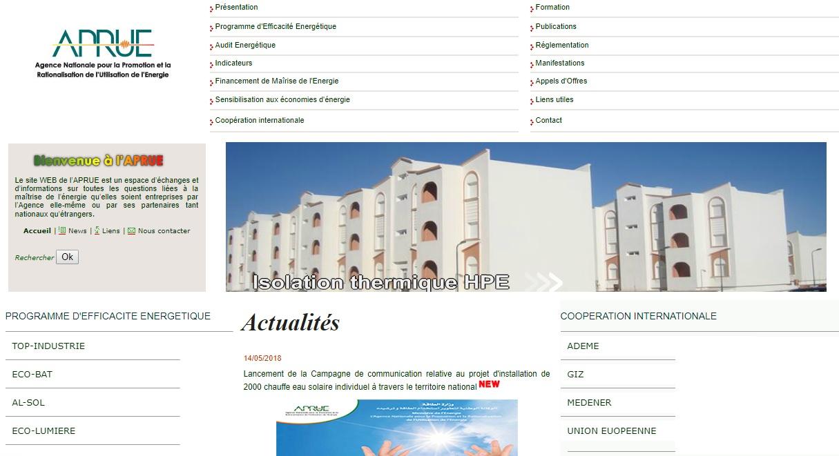 aprue.org.dz Agence Nationale pour la Promotion et la Rationalisation de l'Utilisation de l'Energie financement gpl Algérie