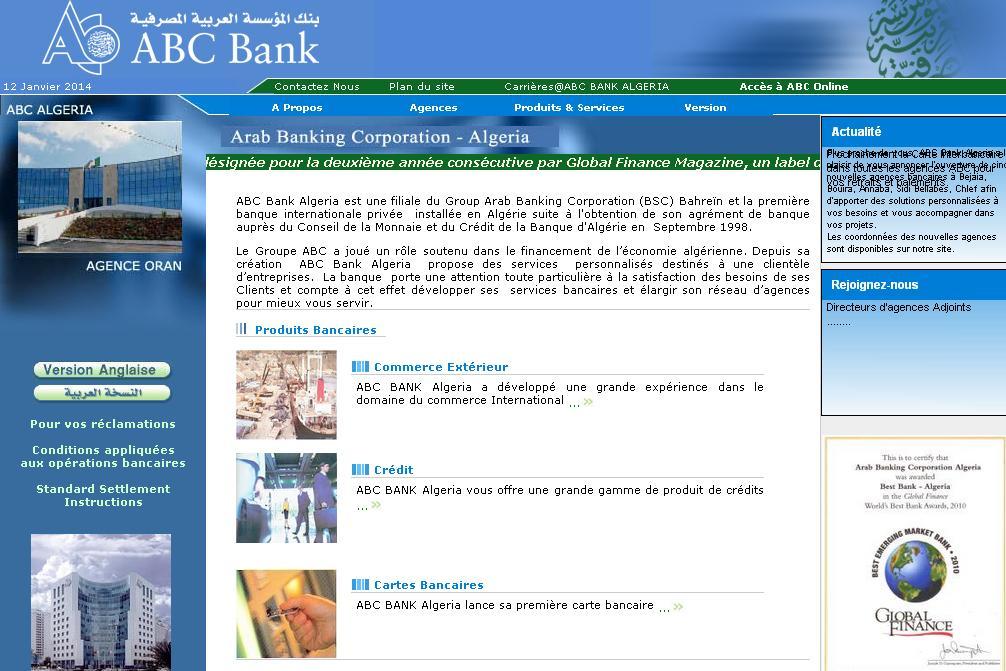 arabbanking.com.dz ABC banque Algérie en ligne Arab Banking