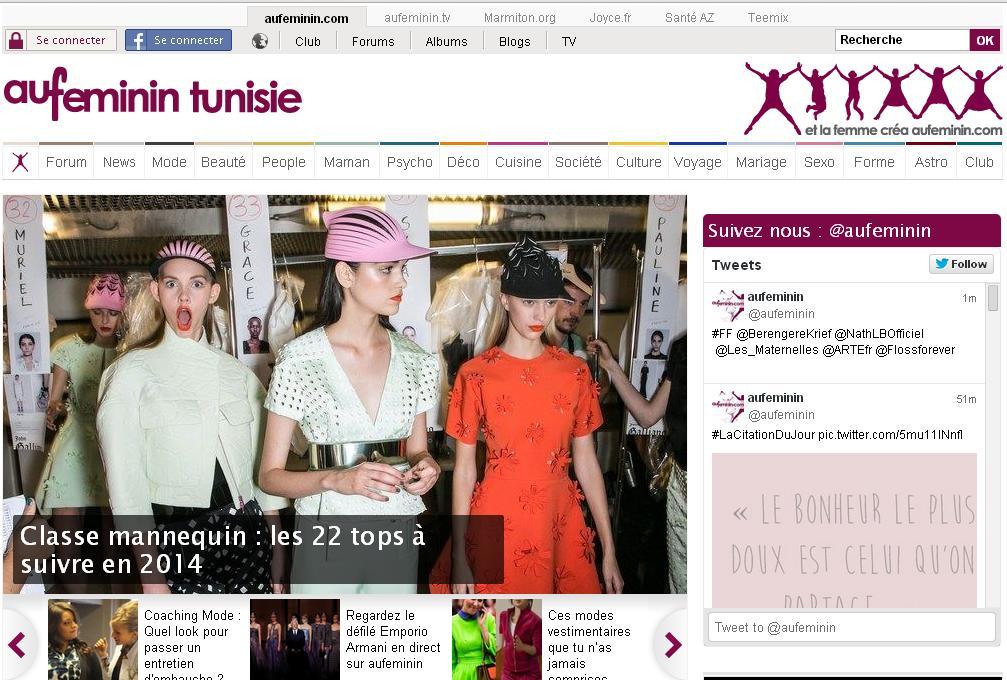 aufeminin.com Au féminin Mode femme Beauté Féminine blog album recettes latribu aufemininbeauté