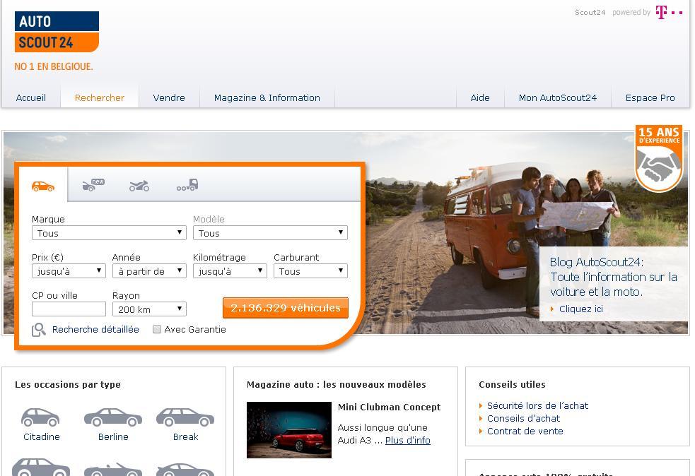 Scout24 Belgique Occasion Voiture - voiture doccasion