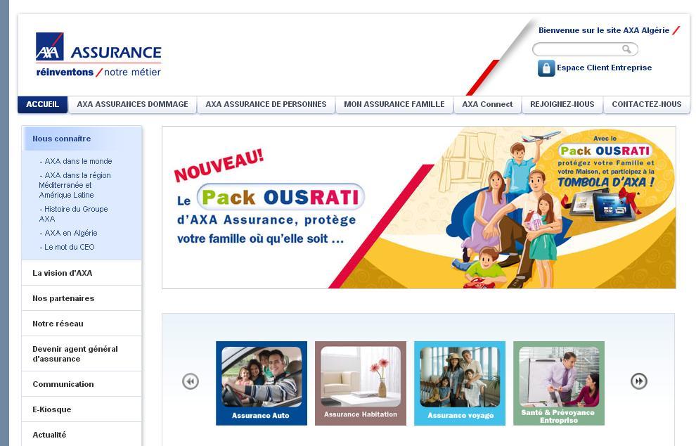 axa.dz compagnie d'assurance automobile Algérie Recrutement dommage voyage