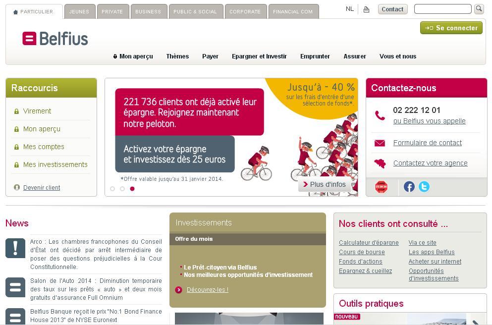 belfius.be Banque Belfius Bank Belgique Direct Net Payer Business Assurance BelfiusWeb Belgium