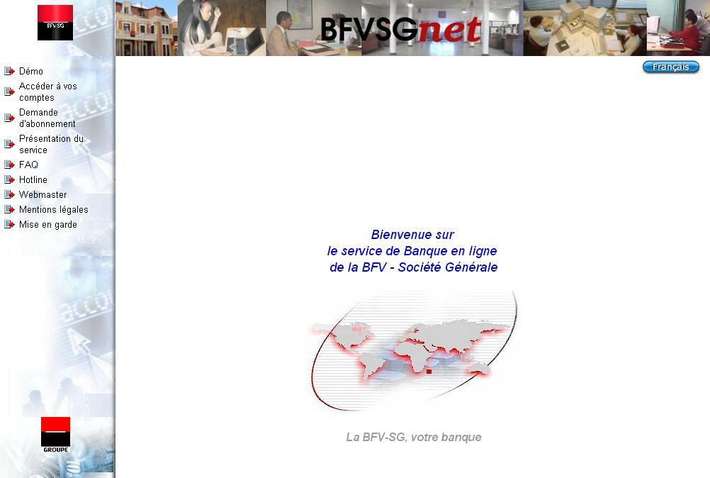 bfvsgnet.mg Banque en ligne Société Générale Madagascar compte professionnel part