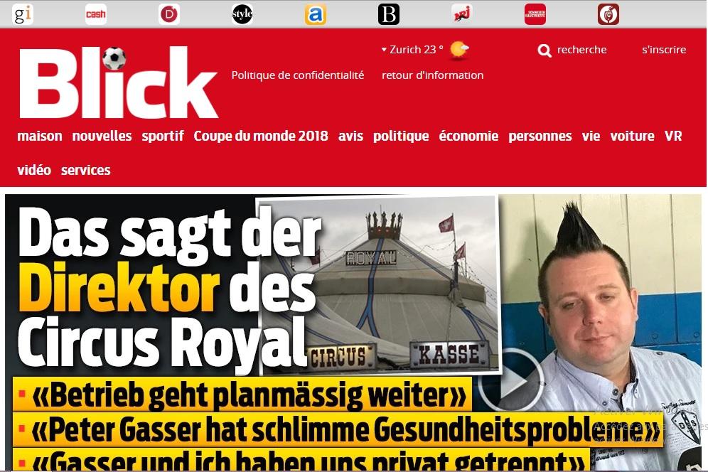 blick.ch Actualités Suisse Zurich news sport journal en ligne