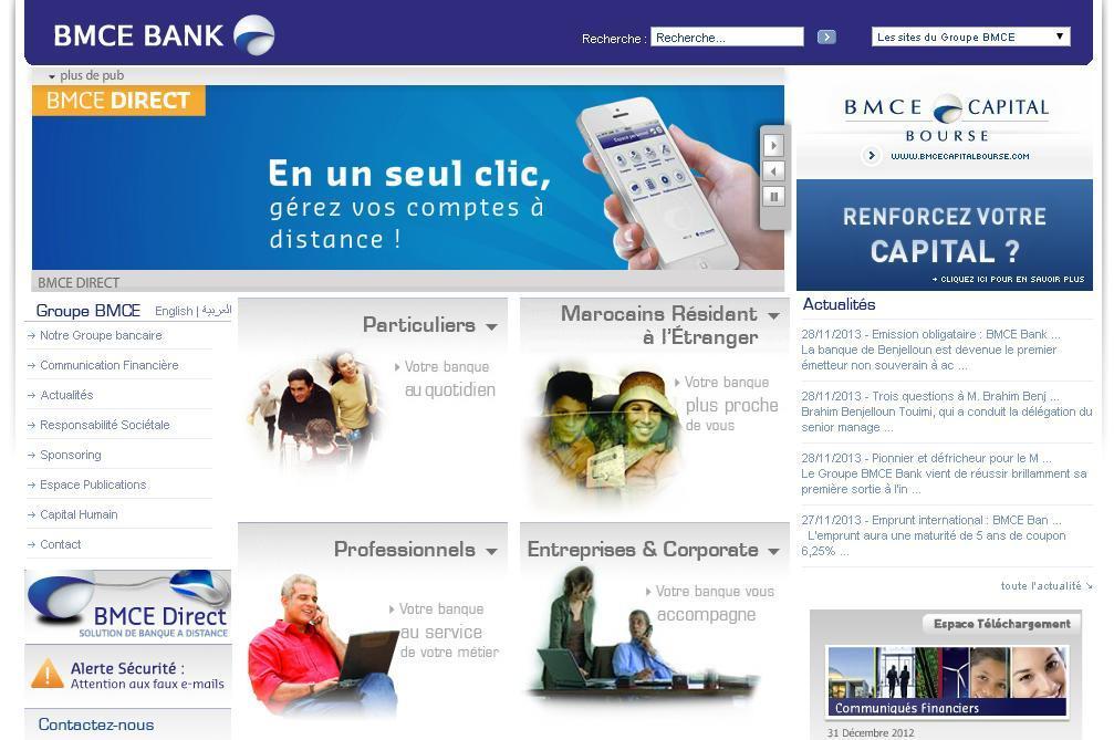 bmcebank.ma Banque marocaine du commerce extérieur Maroc