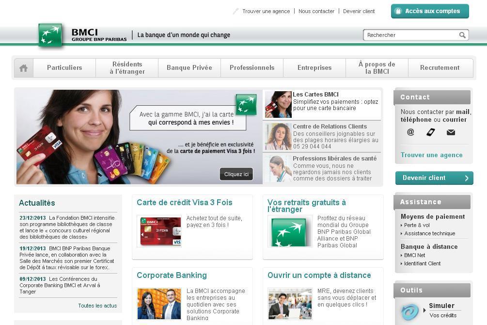 bmci.ma Banque marocaine pour le commerce et l'industrie Groupe BNP Paribas