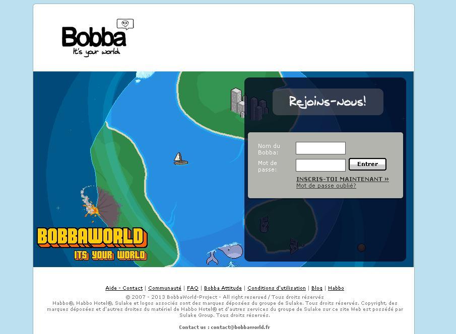 bobbaworld.fr Jeux d'hôtel Bobba World appartement code inscription astuce jouer