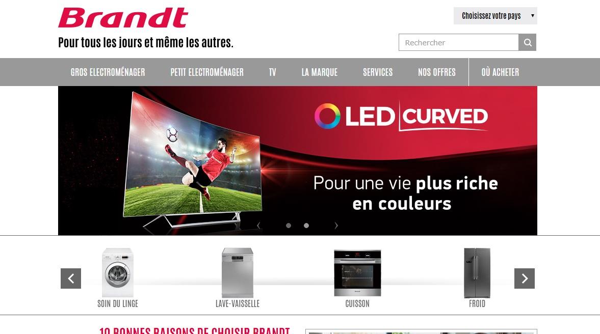 brandt.dz Électroménager Brandt Tv cuisinière Brandt Algérie prix Climatiseur lave vaisselle