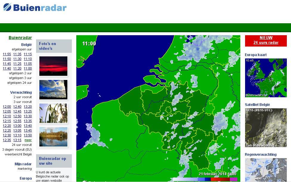buienradar.be Meteo weer Belgium Actuele neerslag, weerbericht, weersverwachting, sneeuwradar en satellietbeelden