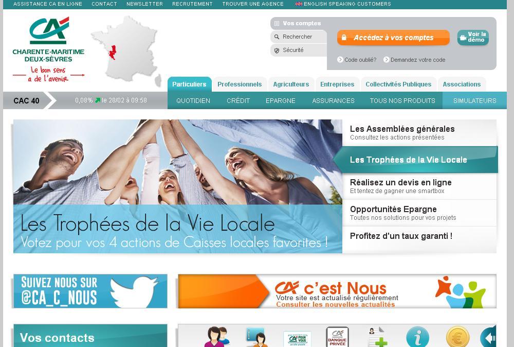 ca-cmds.fr Crédit Agricole Charente Maritime Deux Sèvres cacmds compte domiciliation bancaire relevé