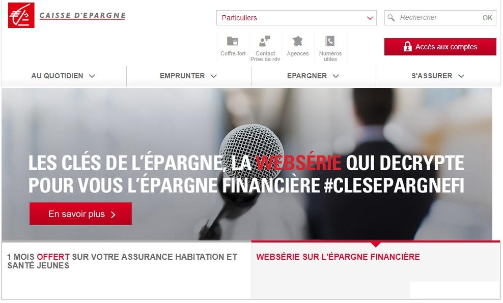 caisse-epargne.fr Caisse d'Épargne Banque France mon compte direct écureuil consulter ses comptes service internet