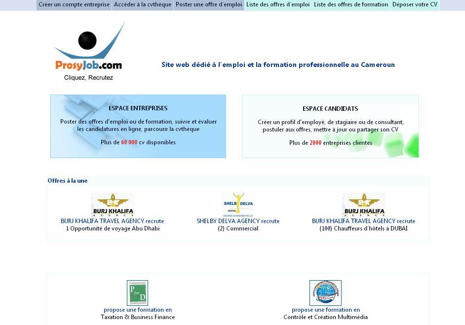 camdevemploi.org Offres et demandes d'emploi au Cameroun en ligne Camdev cm