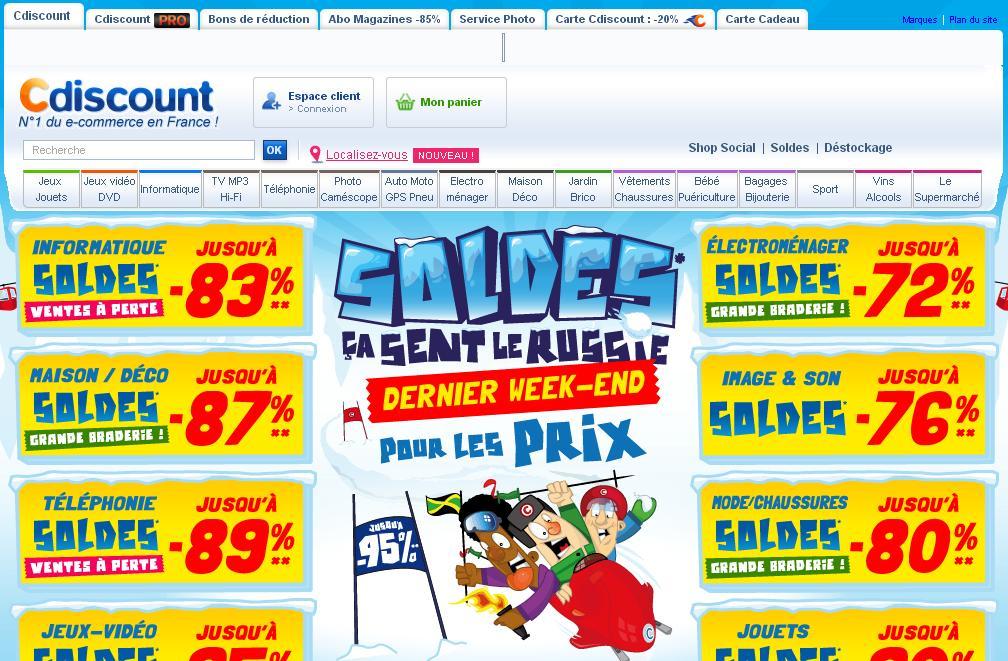 cdiscount.com C discount E-commerce Achats à prix discount France Soldes