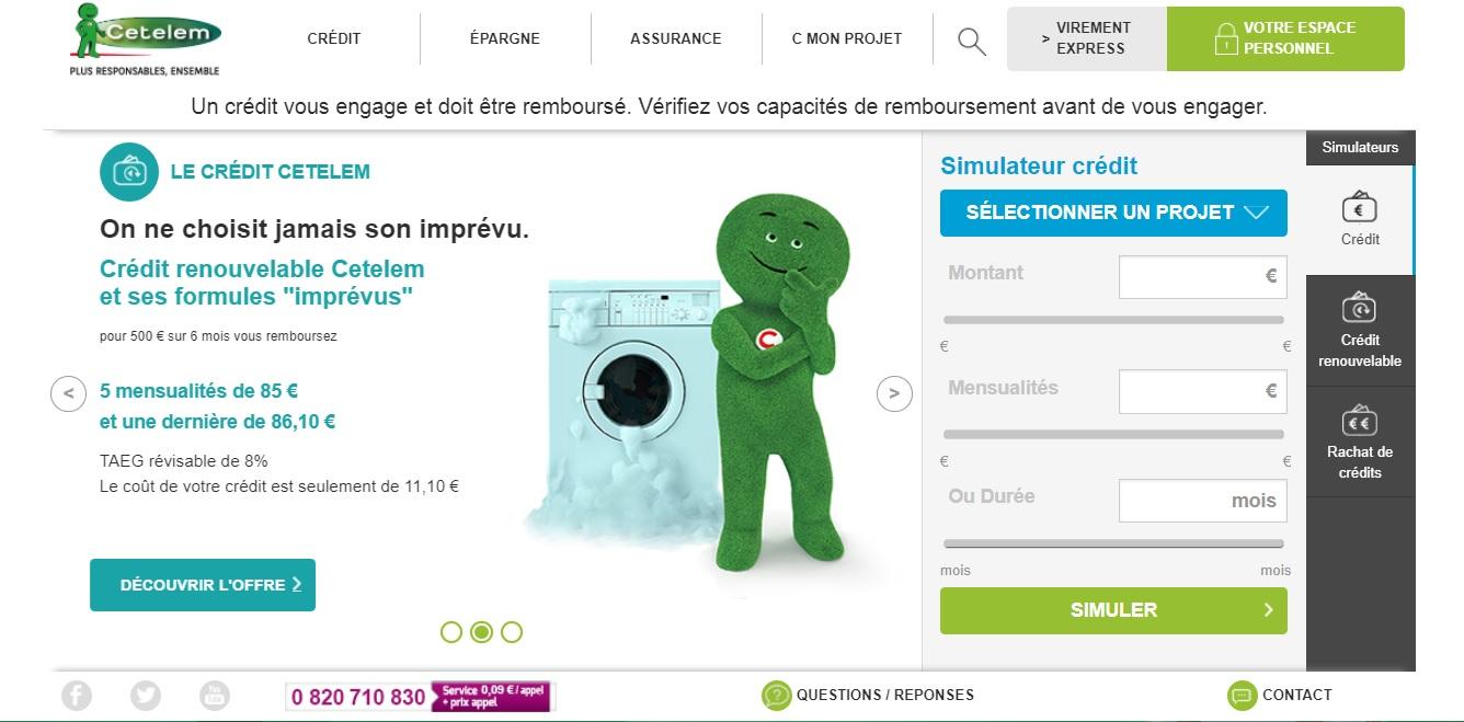 cetelem.fr crédit à la consommation en ligne et mon compte personnel BNP Paribas