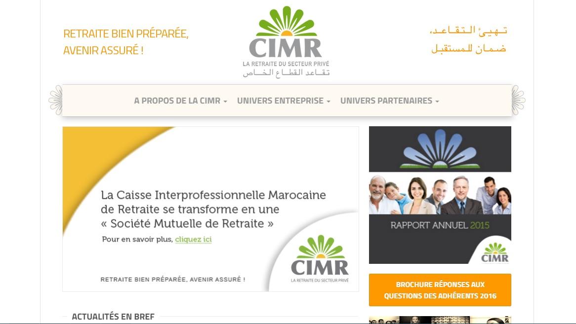 cimrpro.ma  Caisse interprofessionnelle marocaine de retraite Maroc Cimr mutuelle remboursement ma