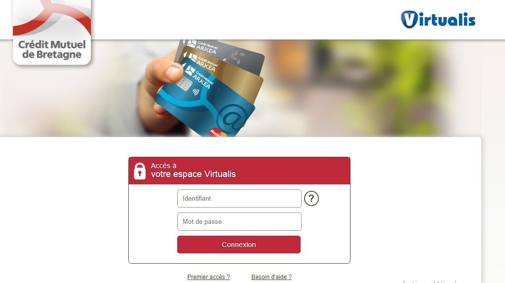 cmb.fr Crédit Mutuel de Bretagne carte Virtualis paiement sécurisé sur internet en ligne direct mon compte pro