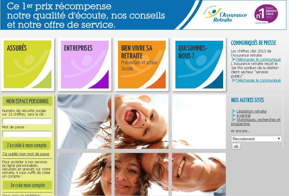 cnav.fr Caisse nationale d'assurance vieillesse Assurance retraite de la Sécurité sociale France