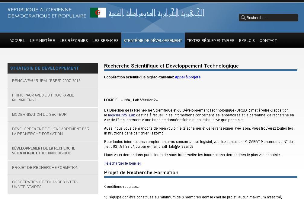 cnepru-mesrs.dz Recherche Scientifique et Développement Technologique Algérie Ministère Enseignement Supérieur cnepru login mesrs dz enseignant
