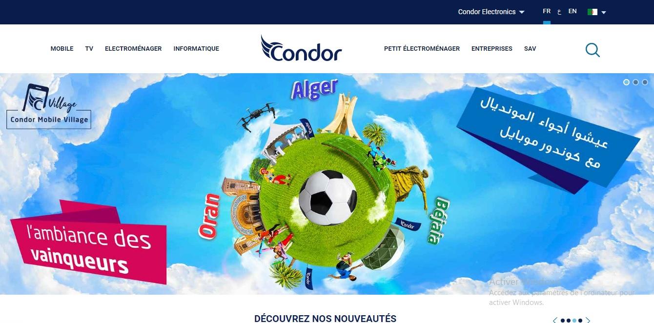 condor.dz Condor Electroménager Mobile Algérie prix 2018 telephone TV Cristal QD