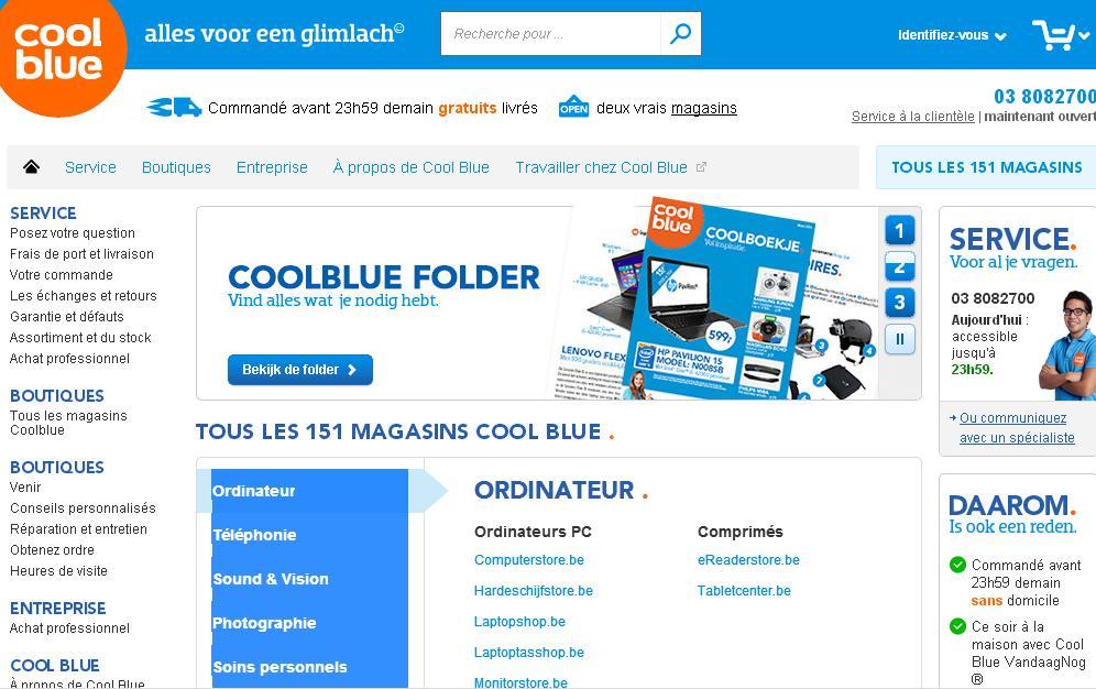 coolblue.be Belgium Cool blue alles voor een glimlach