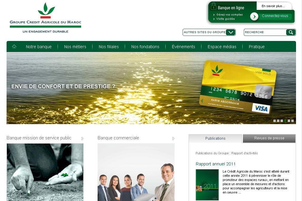 creditagricole.ma Banque Crédit Agricole du Maroc