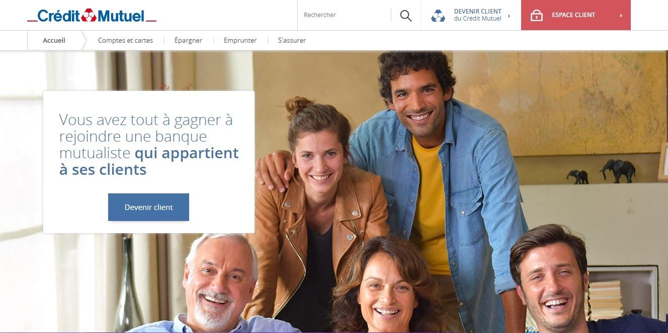 creditmutuel.fr Crédit Mutuel cmut direct Connexion Pro Application compte courant particulier et association