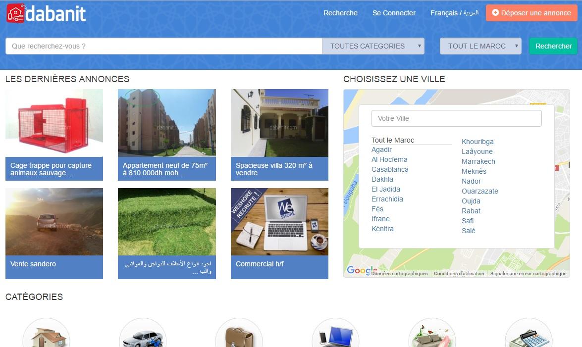 dabanit.hespress.com Annonces Hespress Maroc voiture emploi immobilier ma