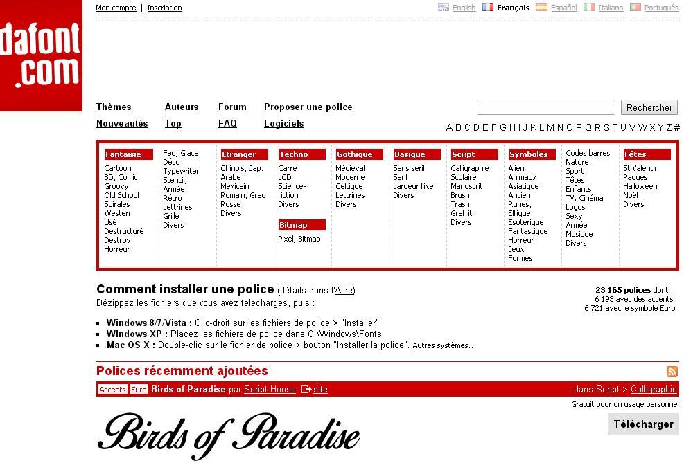 dafont.com Polices à télécharger