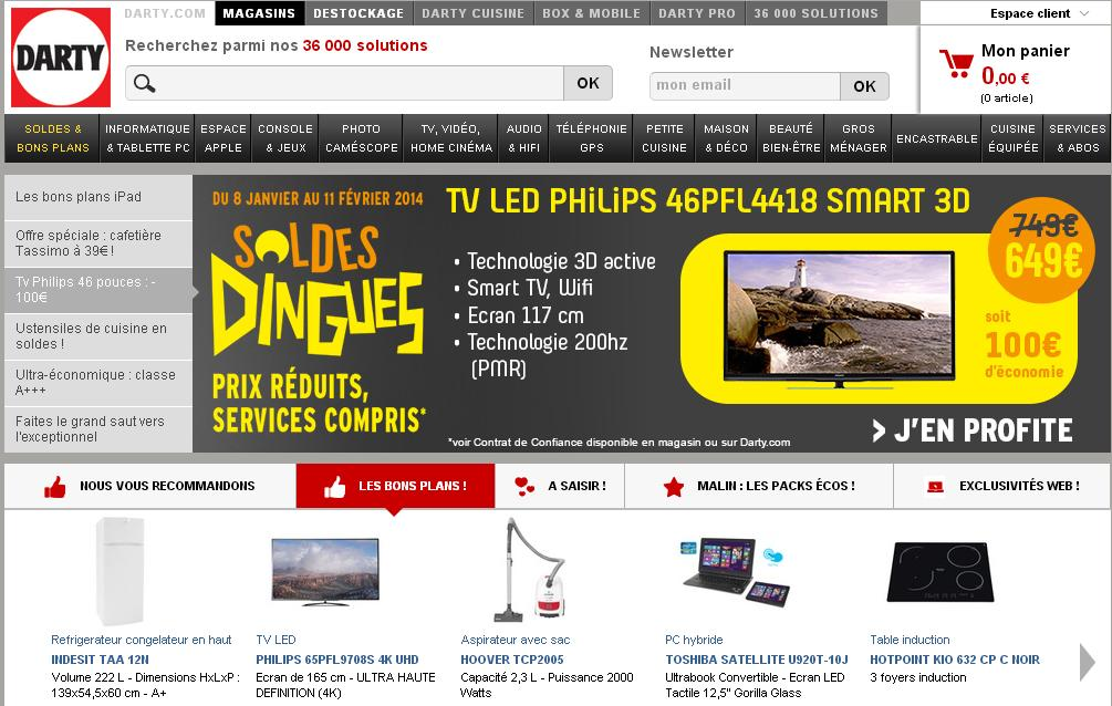 darty.com Magasins Informatique TV LCD France Paris Lyon Nice Tablette électroménager