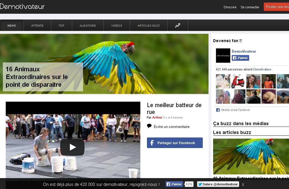 demotivateur.fr Images vidéos drôles, buzz, blague, troll face WTF vdm facebook