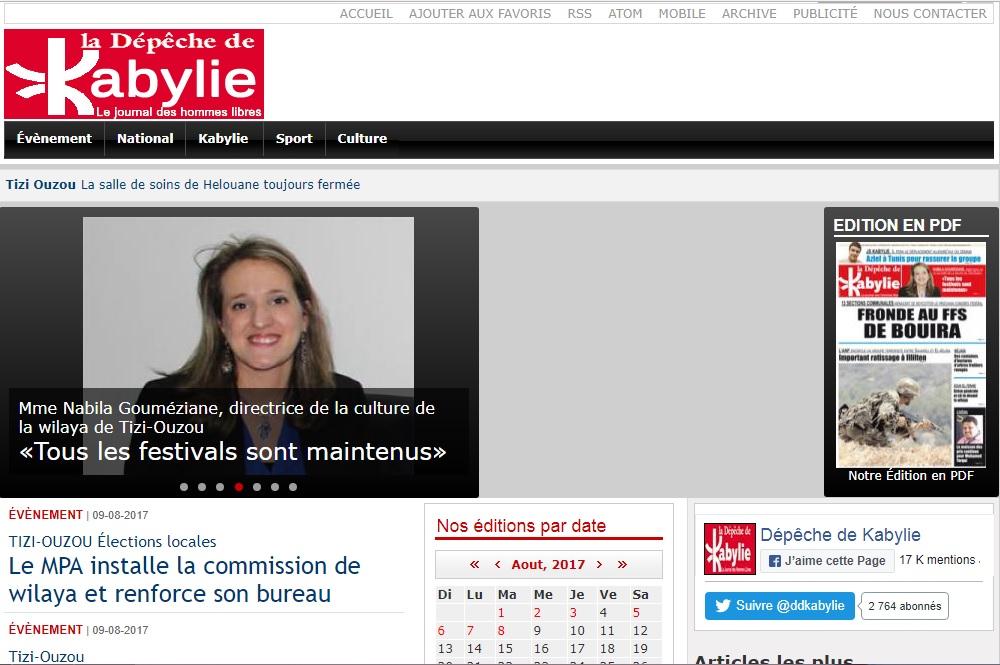 depechedekabylie.com La dépêche de Kabylie Algérie Info faits divers Tizi Ouzou Bejaia Bouira Akbou Kabyle