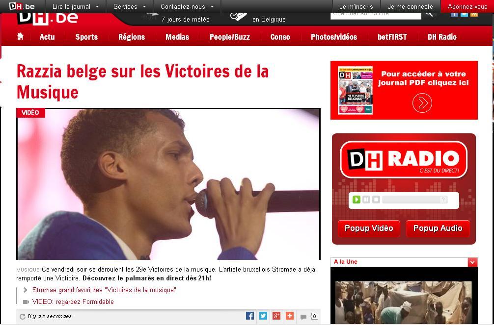 dhnet.be Dernière Heure des Sports belge info actualité