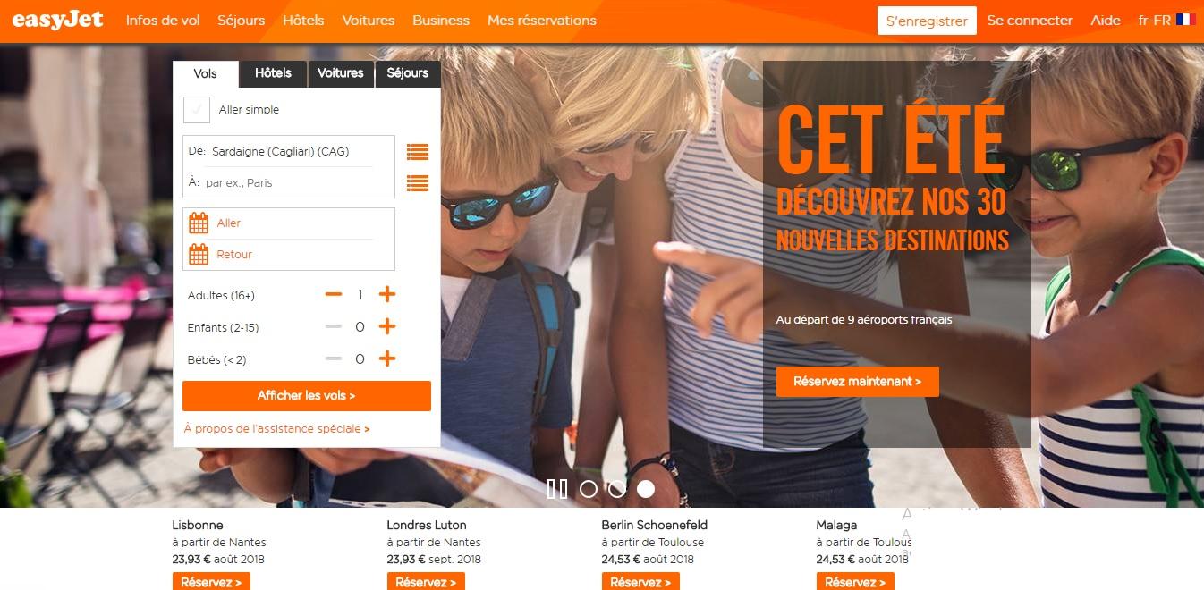 easyjet.com Vols easy jet réservation tavaux easyjet bagages flexi bagage cabine paris genève maroc vol