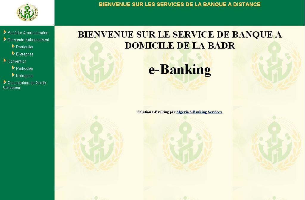 ebanking.badr.dz Banque en Ligne Badr Algérie