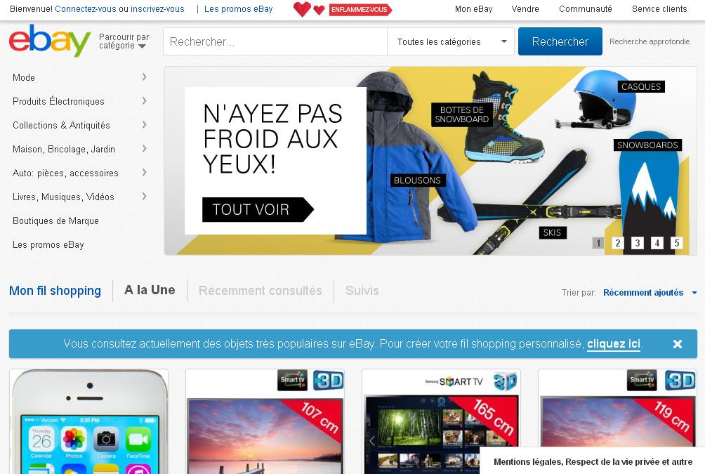ebay.fr Boutique Achat Vente en ligne Enchères Annonces gratuites France