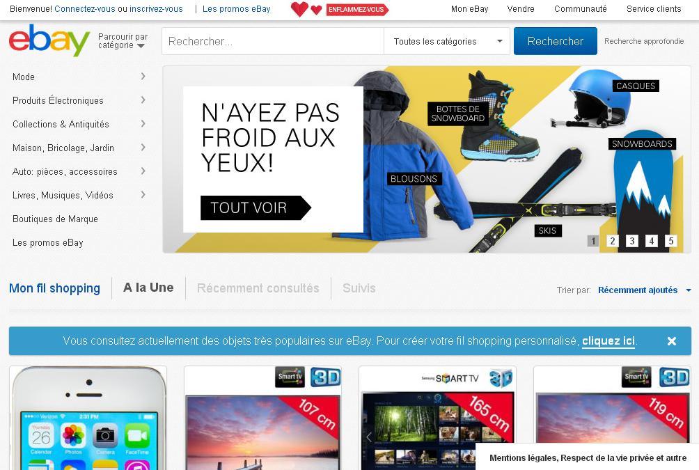 ebay boutique achat vente en ligne ench res annonces gratuites france ebay ebay. Black Bedroom Furniture Sets. Home Design Ideas