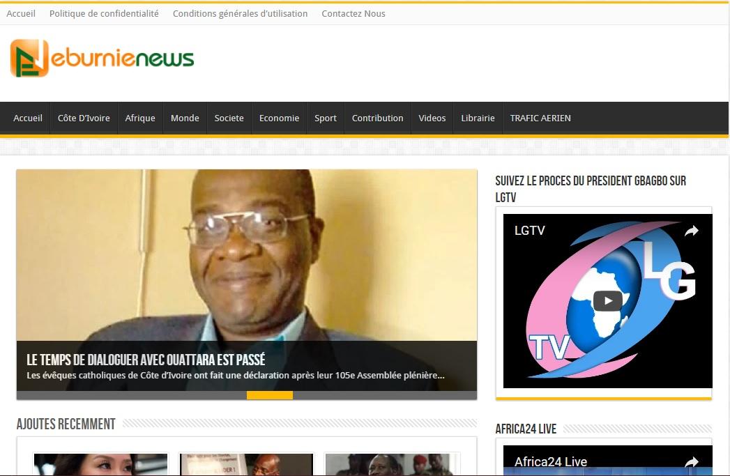 eburnienews.net Journal eburnie news actualité du jour au cote d'ivoire titrologie d'aujourd'hui abidjan ci