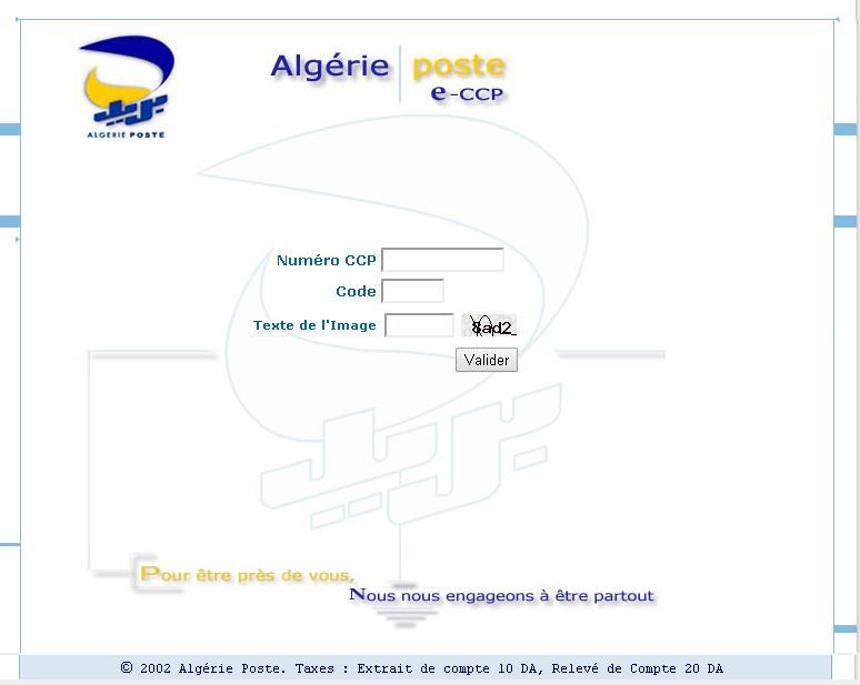 eccp.poste.dz E Ccp La Poste Dz Algérie Consultation compte en ligne ccp.poste.dz Racidi Code Confidentiel