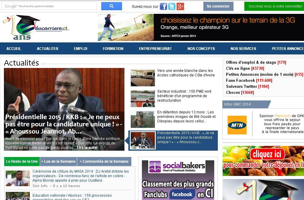 educarriere.ci Education Formation Petites annonces Emploi cote d'ivoire orientation résultat job bac bts