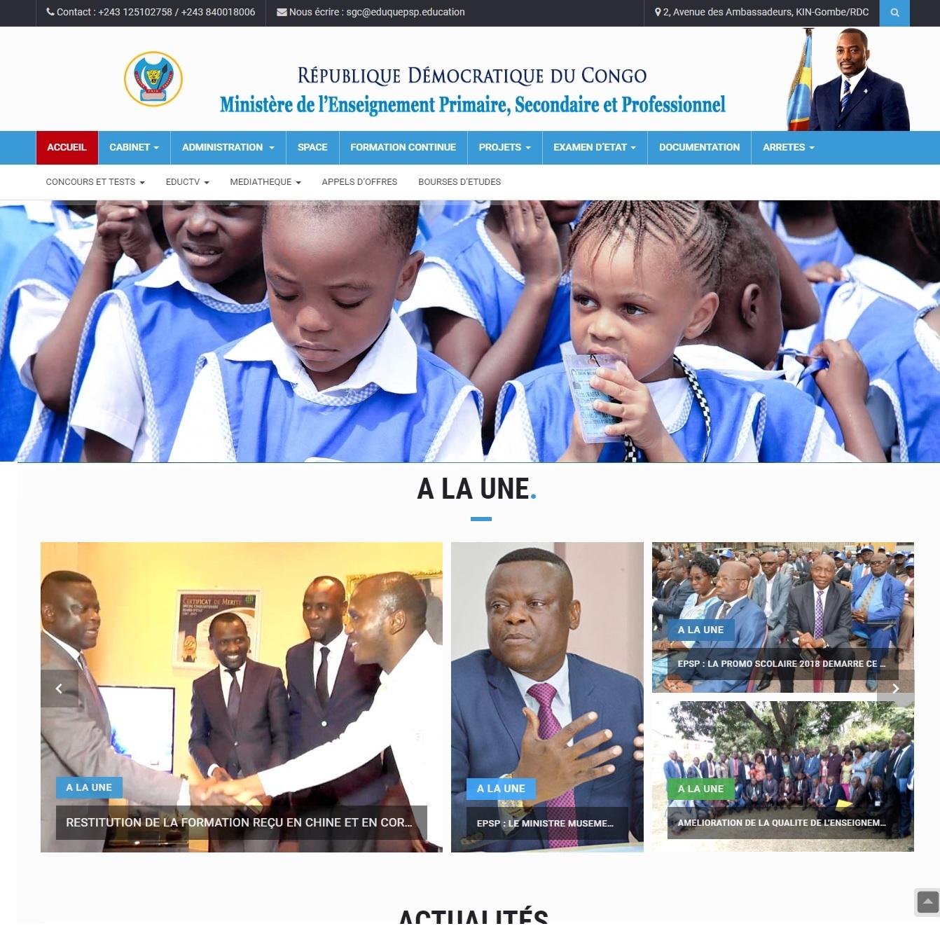 eduquepsp.cd Ministère d'éducation Examen d'Etat Exetat 2018 résultat