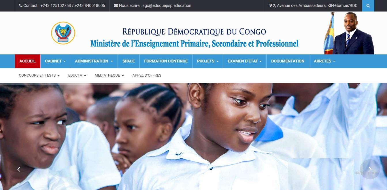 eduquepsp.education Ministère Education Epsp Congo RDC Résultats Exetat 2018 et Tenafep examens et concours Kinshasa