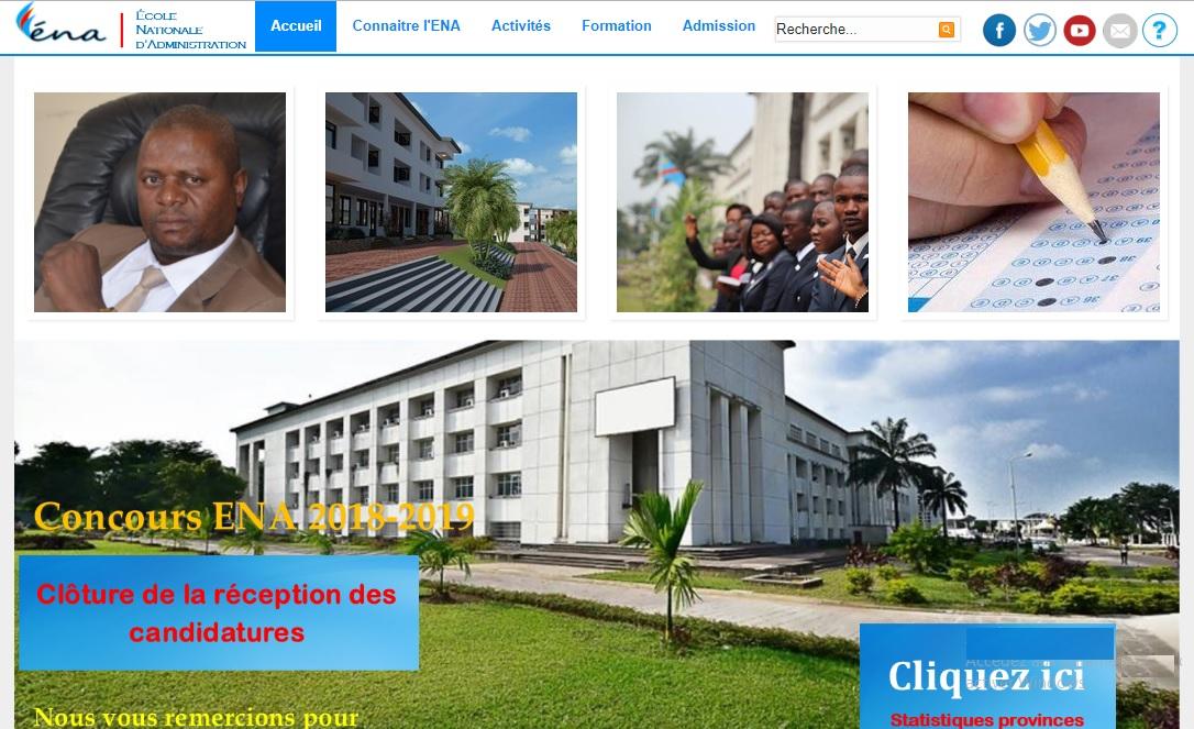 ena.cd École Nationale d'Administration concours Congo Ena rdc recrutement promotion 2018 inscription résultats